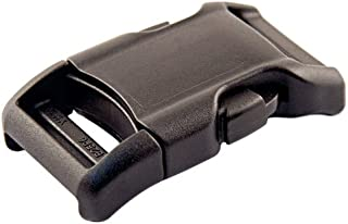 YKK - 1 Inch Contoured Side Release Plastic Buckle (Black, 50 Pack)