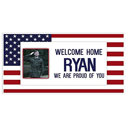 Welcome Home Custom Photo Military Banner