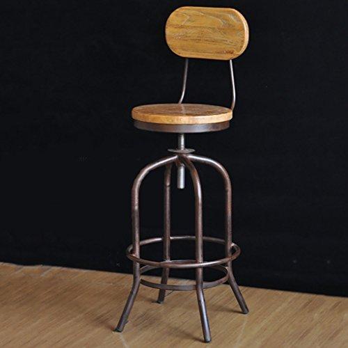 Tieyi Barkruk, industriële kruk, ontbijtkruk, barkruk, massief hout, schommelstoel, retro bar stool Een