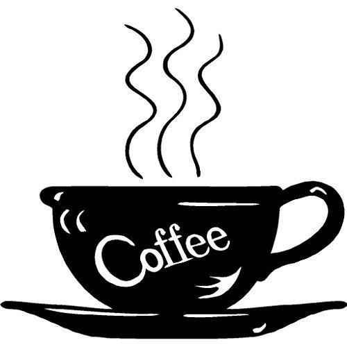 Stan256Nancy Wandaufkleber für Kaffeetasse, kalt gebrühte Bohnen, Koffein, Getränke, 50,8 x 50,8 cm