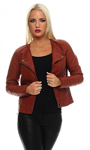 ONLY Damen onlCARLY Faux Leather Jacket CC OTW Jacke, Rot (Burnt Henna), 34