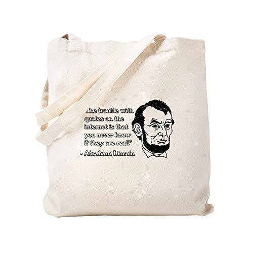 CafePress – Abraham Lincoln Internet Zitate – Naturleinen-Einkaufstasche
