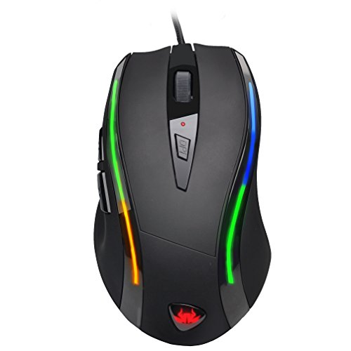 Sumvision® Kata【Tech/PC Advisor Winner Recommended 3years running 2016/2017/2018】 Programmable Macros Wired LED Gaming Mouse 16 Million RGB Customisation