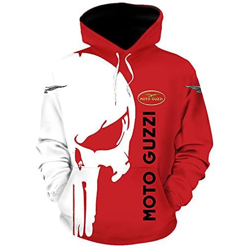 MAUXpIAO Hoodies,Chaquetas,Camiseta Mo_to-Gu_Zzi Punisher 3D Completo Impresión Delgado Hombre Y Mujer Casual Poliéster Sweatshirt Suelto / A1 / XXXXL
