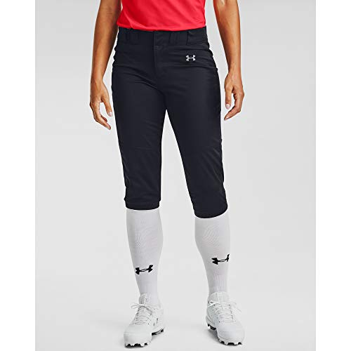 Under Armour Women's Vanish Softball Pants , Black (001)/Baseball Gray , Medium