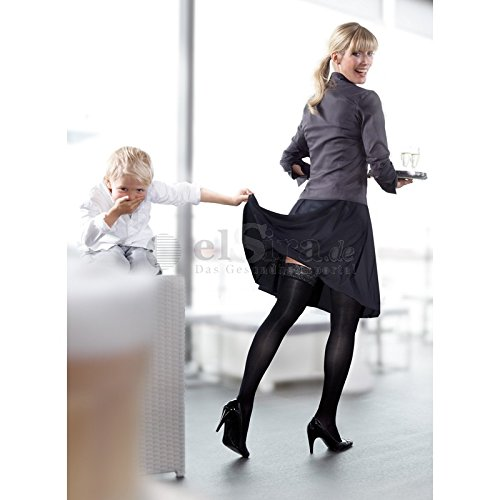 mediven elegance KKL 2 AT/U zwangerschapsbroek, normaal, zwart, gekl. Top II