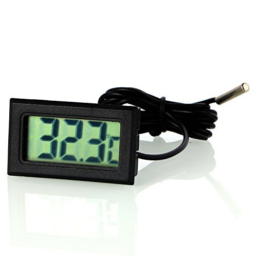 Neuftech LCD-Thermometer Kühlschrank Kühlschrank Digital + Sonde