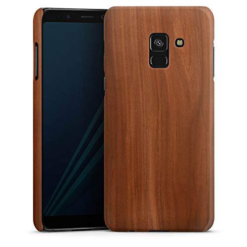 DeinDesign Handyhülle kompatibel mit Samsung Galaxy A8 Duos 2018 Hülle Premium Case Kastanie Holz Erscheinungsbild