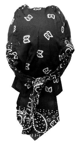 Rocker & Biker Bandana Cap (Schwarz & Weiß)