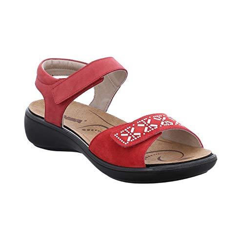 Romika Ibiza 98, Sandalias de Talón Abierto para Mujer, Rojo (Hibiscus 450), 40 EU