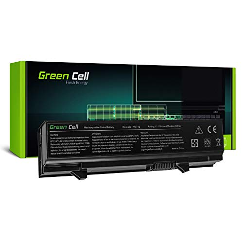 Green Cell Standard Serie KM668 KM742 KM752 KM760 Laptop Akku für Dell Latitude E5400 E5410 E5500 E5510 (6 Zellen 4400mAh 11.1V Schwarz)
