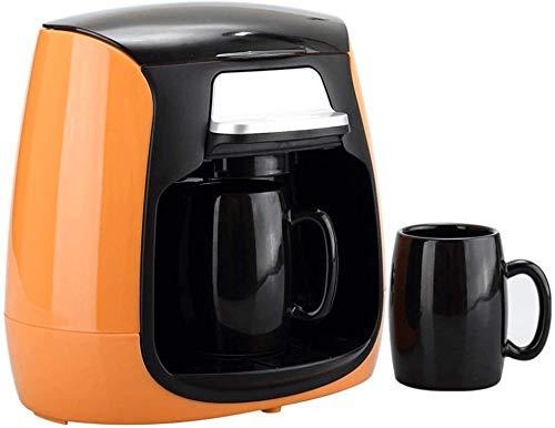 Kaffeemaschine, Compact Kaffeemaschine, 150ml Kaffeemaschine mit Anti-Tropf-Funktion, 600w, Trockengehschutz, Antitropffunktion, wiederverwendbare, waschbare Filter, for Espressokocher (Farbe: Orange)