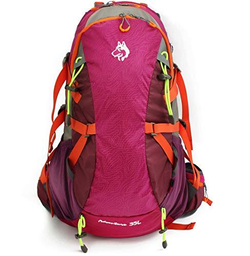 Activités Plein air Camping et Sac à Dos Hommes Femmes Randonnée Sac Professionnel Alpinisme Pink Color 30-40L