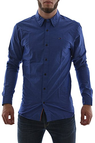 Photo of Hilfiger Denim Basic Shirt Dobby Shirt 17 Blue –  Blue – Medium