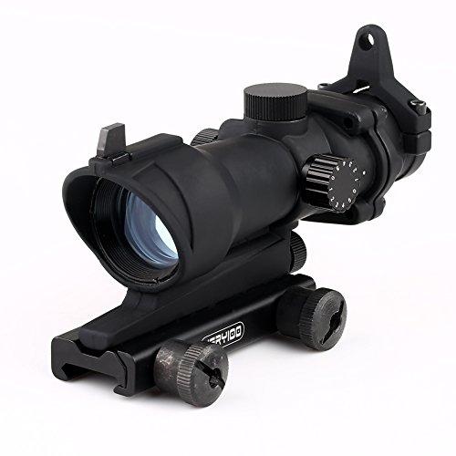VERY100 ACOG Style 1x32, Red/Green Dot Zielvisier aus Metall, mit Notvisierung & 22mm (Weaver) Montage