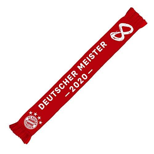 FC Bayern München Schal Deutscher Meister 2020 kompatibel + Sticker München Forever, Schal/Scarf/rassis/viciado FCB