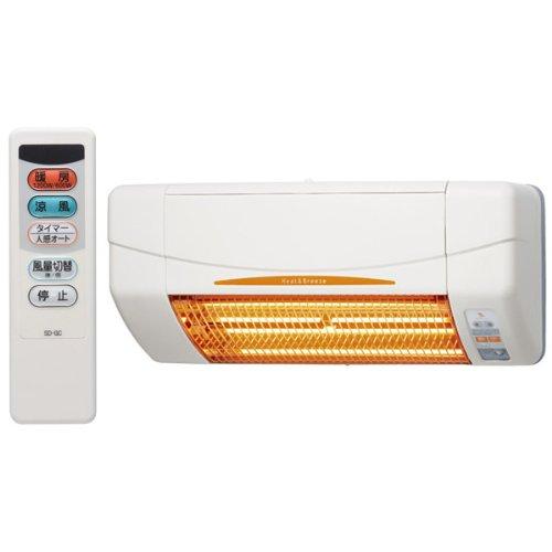 高須産業(TSK) 涼風暖房機 浴室用 防水仕様 ホワイト SDG-1200GB