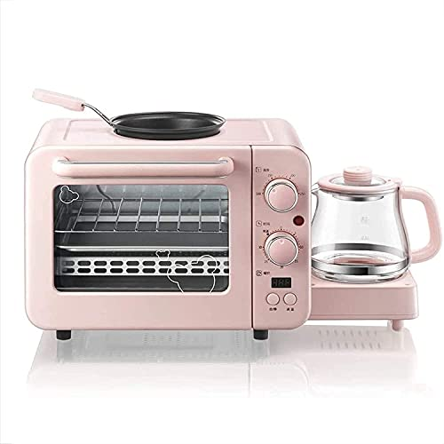 NZKW Mini Horno, tostadora eléctrica 3 en 1 para el Desayuno, Horno...