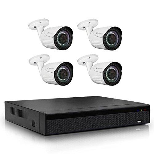 Atlantis Ultraplex NVR UX09 Kit Videocamera di Sorveglianza, Bianco/Nero