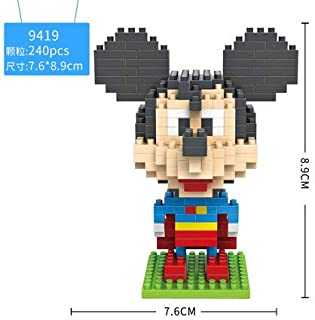 LOZ Micky Mouse Super Man Diamond Mini Building Micro Block Brick Headz Baseplate DIY Figurine Bobble Head Collectible Developmental Toys Model Comics Collection Chistmas Gifts for Kids …