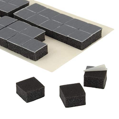 Klebepads 3D   Doppelseitig klebend   Anthrazit   10 x 10 x 6 mm Dicke   20 oder 100 Stück   Permanente Haftung auf vielen Oberflächen   Doppelseitige Klebepunkte zum Basteln   Anpassungsfähig