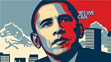 Home Comforts Barack Obama Yes We Can President Election USA Vivid Imagery Laminated Poster Print 24 x 36