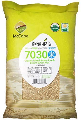 McCabe Organic 7030 (Brown Rice & Brown Sweet Rice), 12-Pound