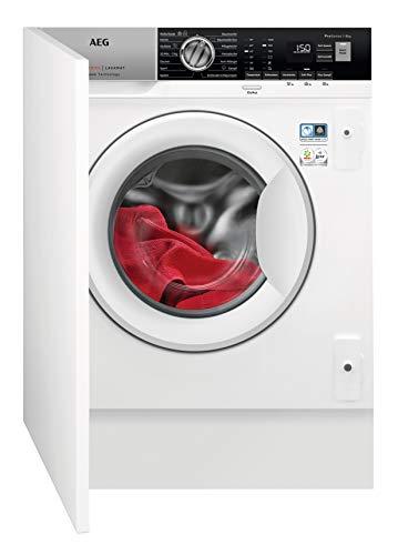 AEG L7FBI6480 Einbauwaschmaschine / ProSteam - Auffrischfunktion / 8,0 kg / Mengenautomatik / Nachlegefunktion / Kindersicherung / Schontrommel / Allergikerfreundlich / Wasserstopp / 1400 U/min