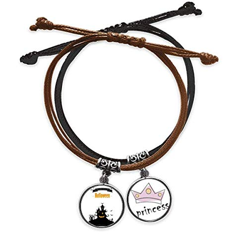 Bestchong Halloween Ghost Bat Fear Art Deco Gift Fashion Bracelet Rope Hand Chain Leather Princess Wristband
