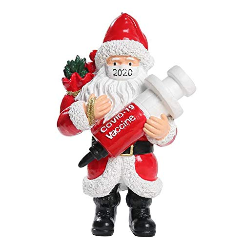 ROSEWARD 2020 Christmas Decorations Tree Ornaments Santa Clause Wearing Masks Brings for Family Friends