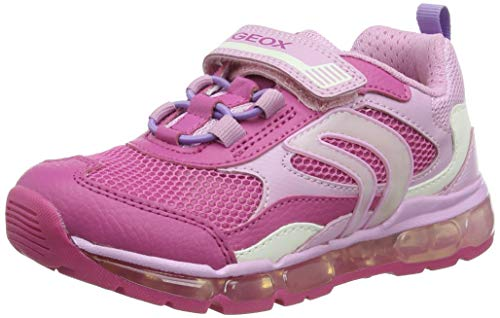 Geox J Android Girl D Sneaker, Fuchsia/PINK, 31 EU