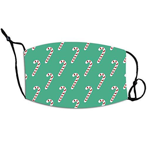 N / A Zivile Weihnachtsmasken, hängende Ohren, Einstellbarer staubdichter PM2.5Gesichtsschutz, waschbares und wiederverwendbares Gesichtstuch, geeignet für Männer und Frauen