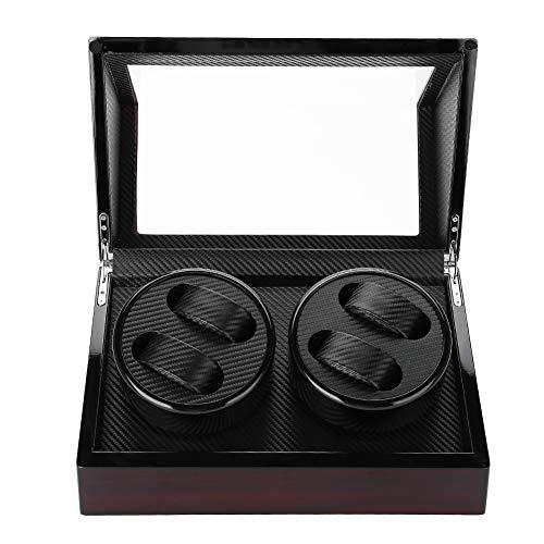 Salmue Uhrenbeweger für Automatikuhren, 100-240 V, PU, Winder, leise Uhren, Vitrinen-Tasche, Spulenbox für Uhren Organizer und Ausstellung 1#
