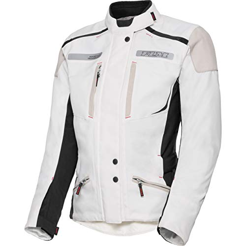 FLM Motorradjacke mit Protektoren Motorrad Jacke Damen Reise Textiljacke 2.1 weiß L, Enduro/Reiseenduro, Sommer