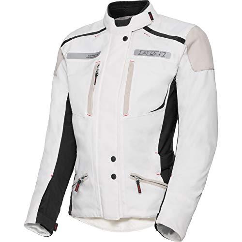FLM Motorradjacke mit Protektoren Motorrad Jacke Damen Reise Textiljacke 2.1 weiß S, Enduro/Reiseenduro, Sommer