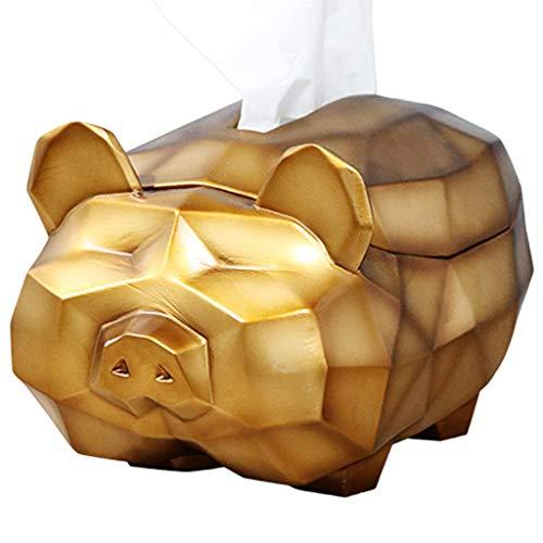 DXIUMZHP Caja de pañuelos Porta Cajas De Pañuelos para Sala De Estar, Adornos De Almacenamiento De Llaves De Entrada Preciosos, Caja De Papel De Cerdo 3D, Estatuilla De Cerdo Lindo