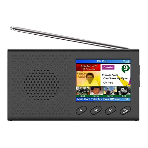 DAB Radio, with 2.4 Inch Color LCD Sn Rechargeable Handheld Digital FM DAB MP3 Player Digital Tuner Broadcast