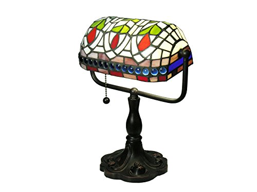 Warehouse of Tiffany KS20MB50 12-inch Stained Glass Desk Lamp