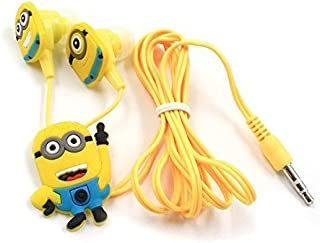 Improvhome Meecase MINIONS In-Ear Stereo Dynamic Wired Earphones with 3 Earplug Covers