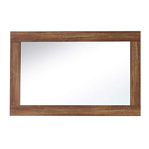 BRÜSSEL Wandspiegel in Akazie Optik - hochwertiger, pflegeleichter Spiegel für Flur & Garderobe - 100 x 65 x 2 cm (B/H/T)