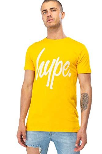 JUSTHYPE T-Shirt Script Camiseta Manga Corta para Hombre - algodón