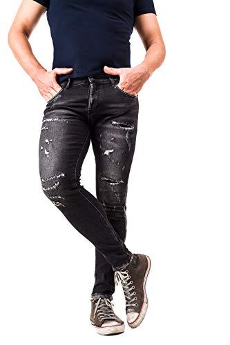 Instinct Jeans Uomo Skinny Slim Fit Stretti alla Caviglia 916 (44, Grigio J-81)