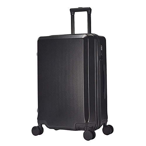 Juego de equipaje de viaje portátil con candado TSA Trolley Maleta con ruedas giratorias, ABS PC, bolsa de viaje de negocios de 50,8 cm (color: rosa, tamaño: 20 pulgadas)