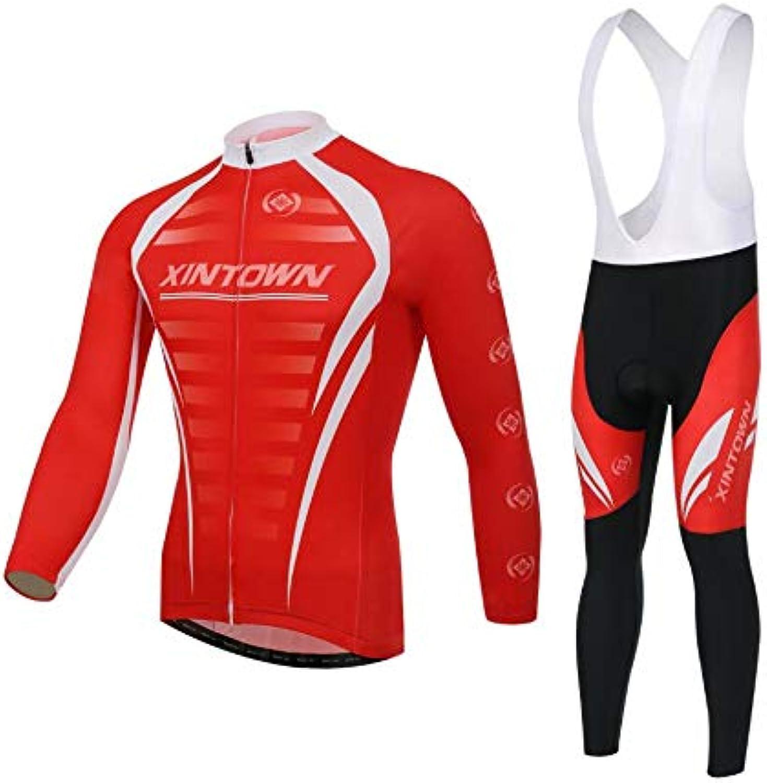 DUBAOBAO Herren-Radanzug Set, Rennrad-Hemd Strumpfhosen, Herren-Reitbekleidung Outdoor-Sportbekleidung, hinter DREI Taschendesign