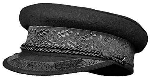 Balke Prinz-Heinrich-Mütze Kapitänsmütze schwarz marine, Farbe:schwarz, Größe:55