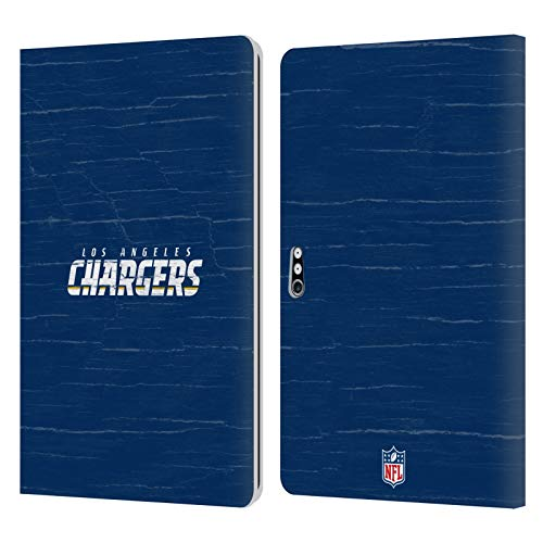 Head Case Designs Officially Licensed NFL Distressed Look Los Angeles Chargers Logo Leather Book Wallet Case Cover Compatible With Microsoft Surface Pro 4/5/6