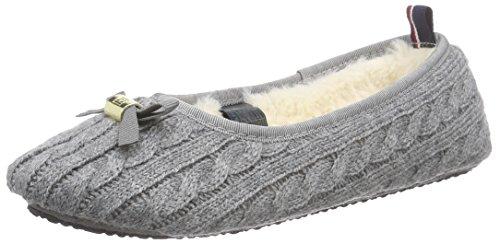 Tommy Hilfiger Damen S1285UN 4D Flache Hausschuhe, Grau (Steel Grey/Black 039), 35/36 EU