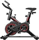 Vélo d'appartement, vélo d'appartement, coussin de siège confortable, support iPad avec écran LCD pour entraînement cardio, gym, course à pied