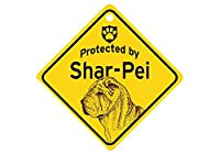 Protected by Shar-Pei スモールサインボード:シャーペイ 監視中 ミニ看板 アメリカ製 Made in U.S.A [並行輸入品]