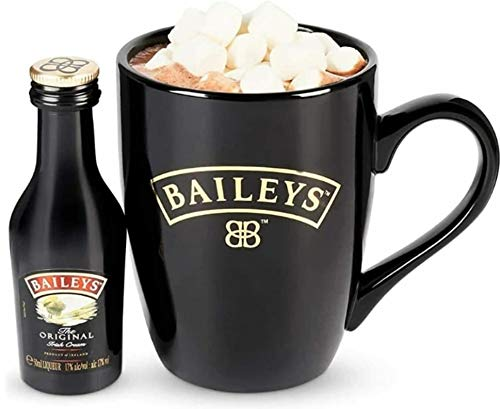 Baileys Geschenk-Set für heiße Schokolade, mit Tasse, Marshmallows, Irish Cream & Hot Chocolate Sachet
